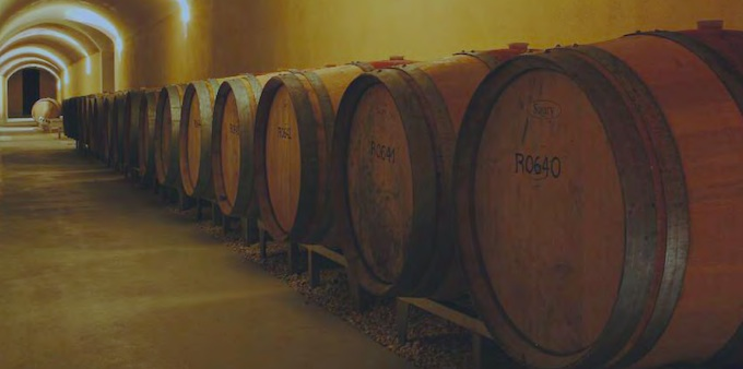 Wine casks in Bellet, South of France