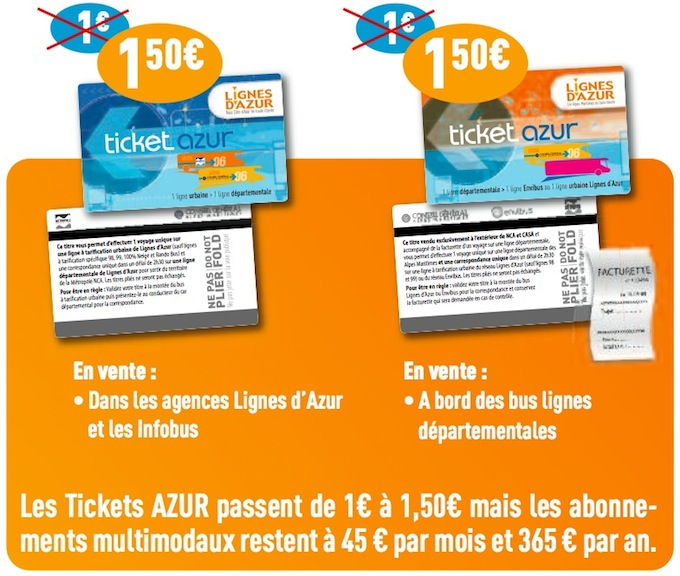 Lignes d'Azur introduce new fares in Nice and the region