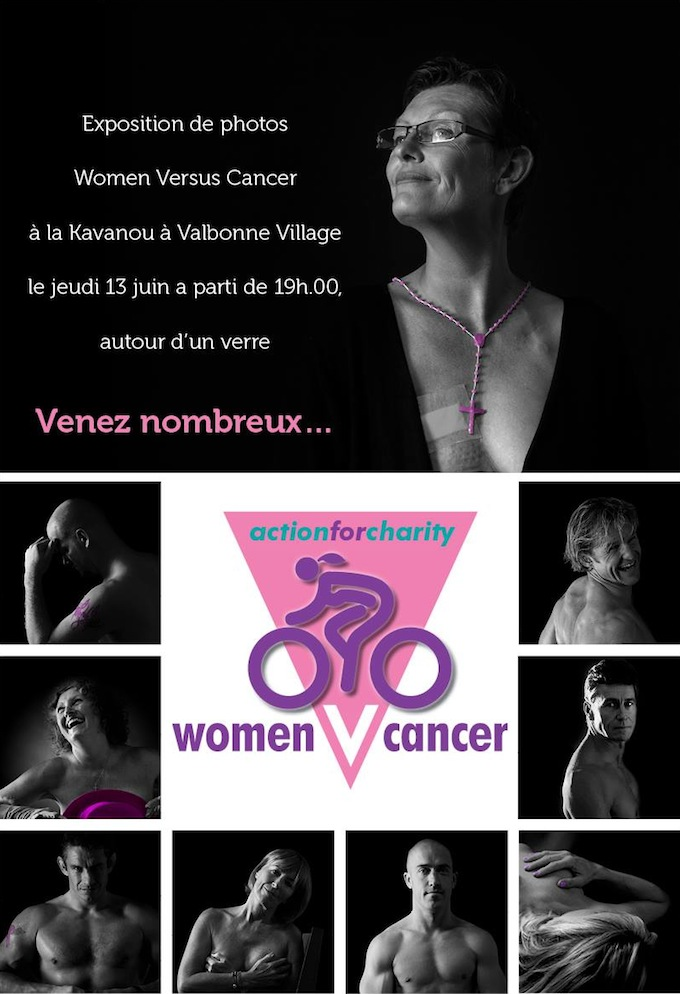 Photograph exhibition in Valbonne for cancer charity