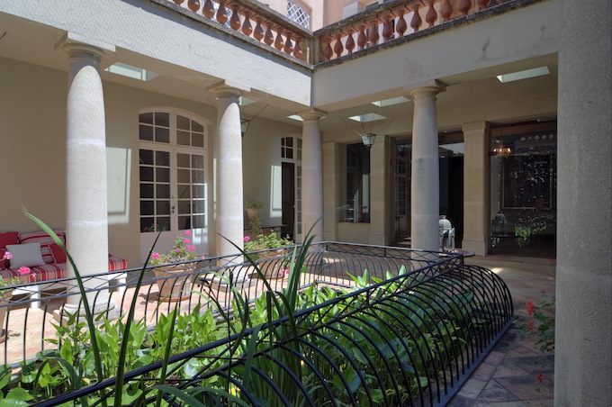 The courtyard in the beautiful villa in Ste. Maxime with Home Hunts