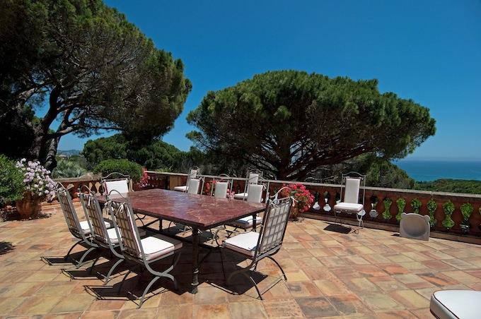 Great views from the stunning terrace in Ste. Maxime villa