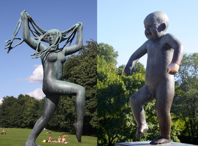 Sculptures in Vigeland Park in Oslo