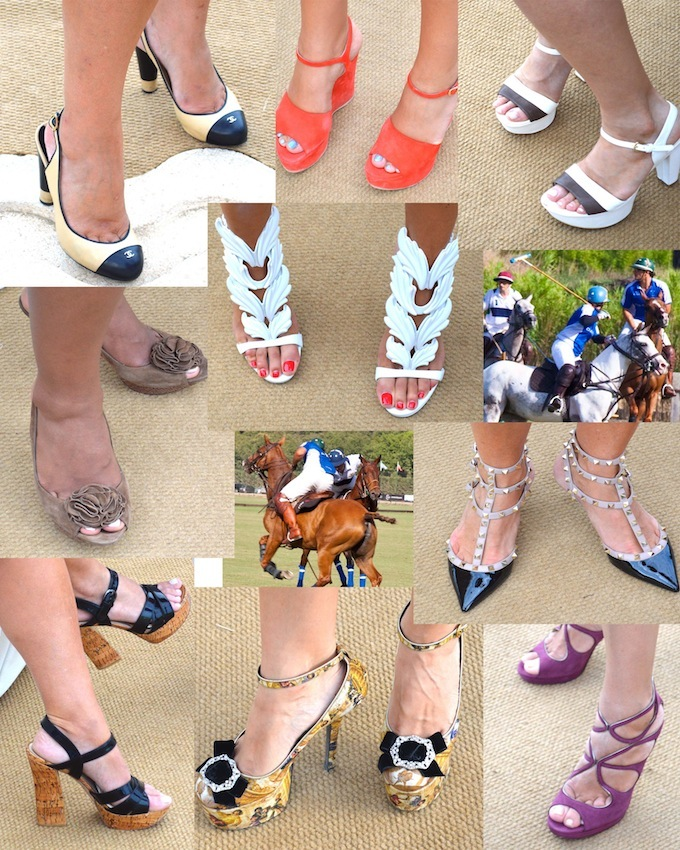 More delectable footwear from the polo tournament in Monaco