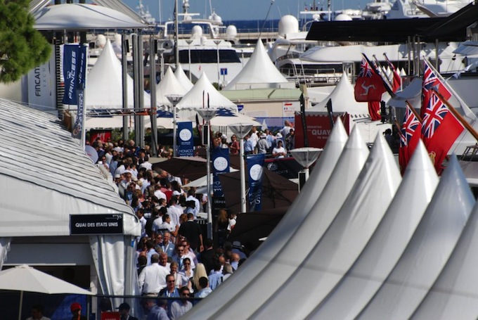 Stands at the 2012 Monaco Yacht Show