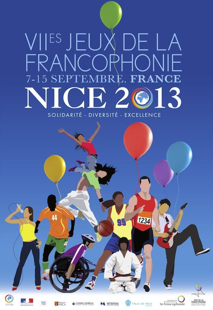 Les Jeux de la Francophonie 2013 affiche poster