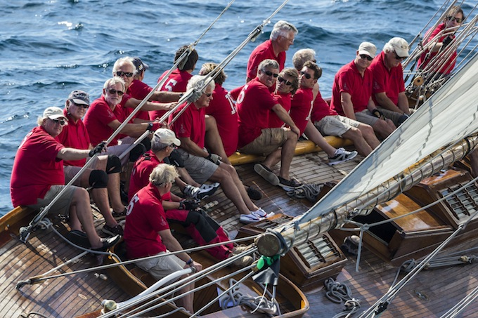 NAN OF FIFE crew during Les Voiles de St. Tropez - Photo © Rolex/Carlo Borlenghi