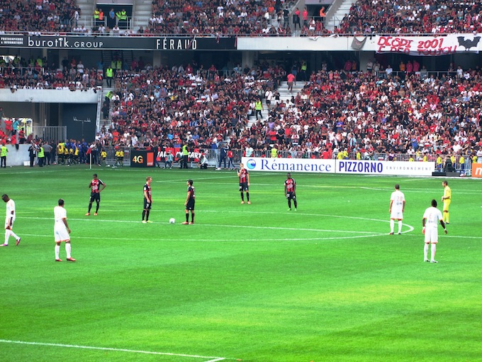 OGC Nice play their first home match in Allianz Riviera stadium
