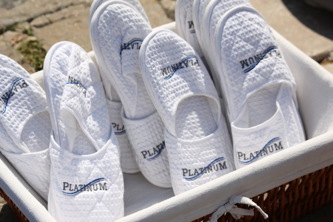 Your very own deck slippers at Monaco Yacht Show 2013