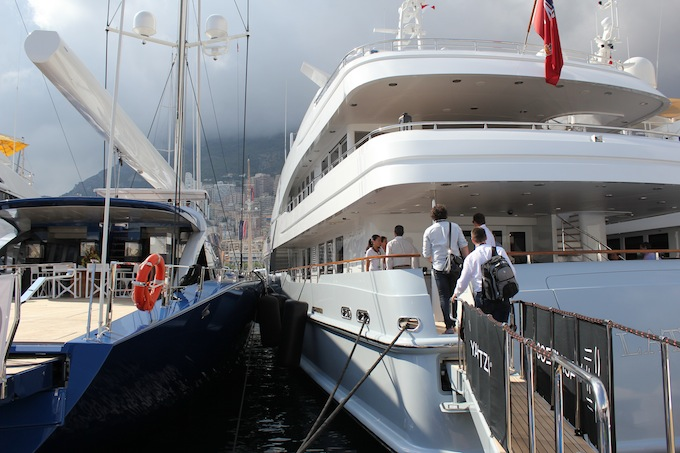 Up close and personal with your neighbours at Monaco Yacht Show 2013!