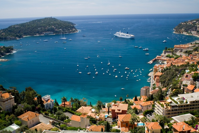 Overlooking Villefranche-sur-Mer on the French Riviera
