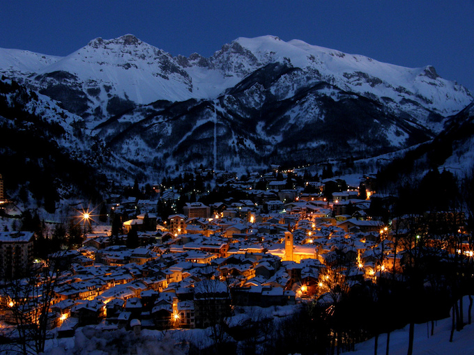 Limone in Piedmont, Italy by night © Limone Turismo