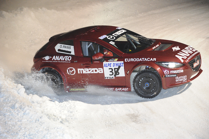 Olivier Panis competing in Trophée Andros
