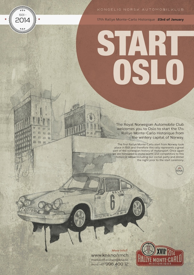 Oslo is one of the departure cities in the Monte-Carlo Historic Rally