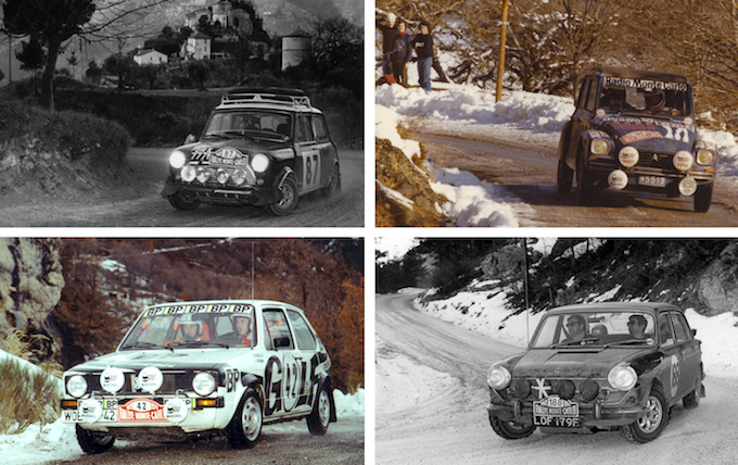 Some of the cars participating in the Monte-Carlo Historic Rally 2014