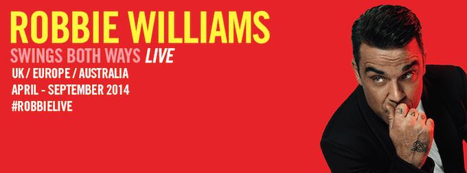 Robbie Williams on tour 2014