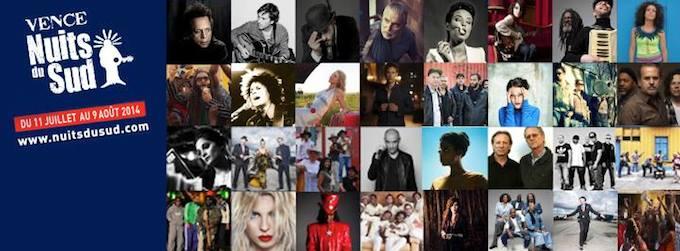 Les Nuits du Sud festival 2014
