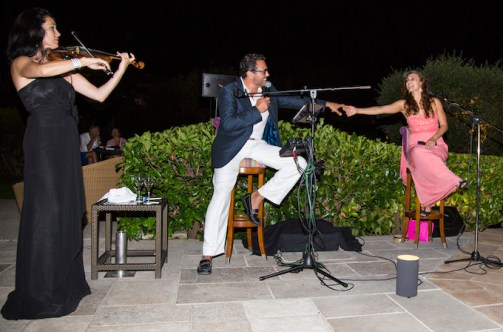 Philippe Harari performing at Le Mas de Pierre