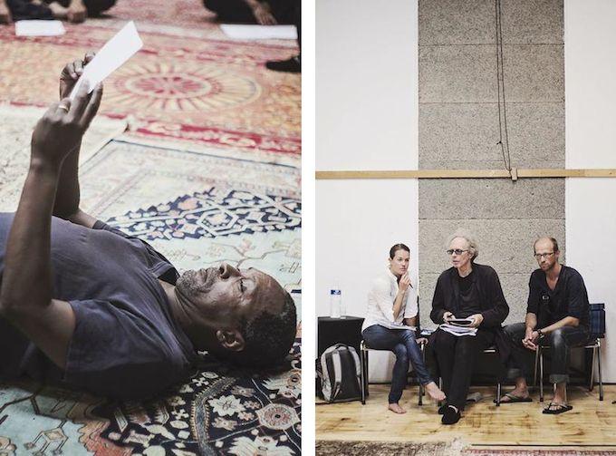 Actors rehearsing Peer Gynt at TNN in Nice