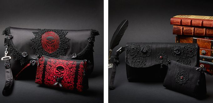 Victorian Woman clutch bags