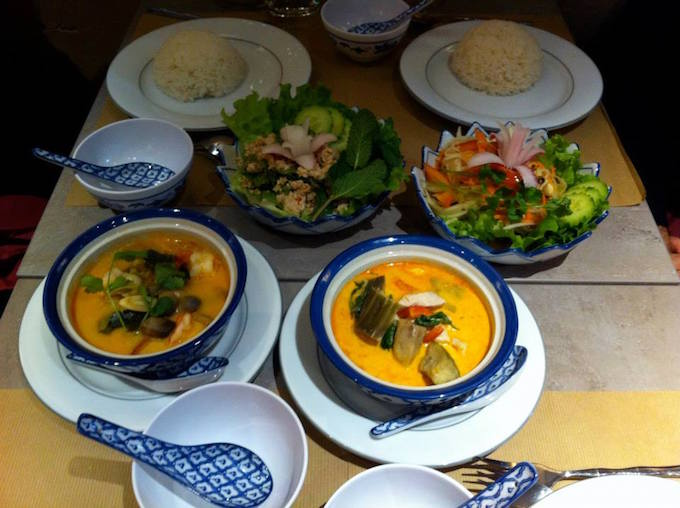 Selection of dishes at Le Banthai in Vieux Nice
