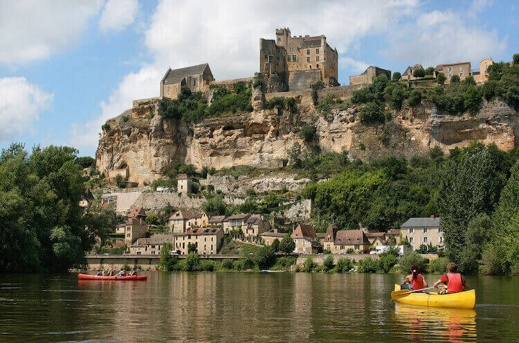 Canoeing on the Rhône in the Vaucluse