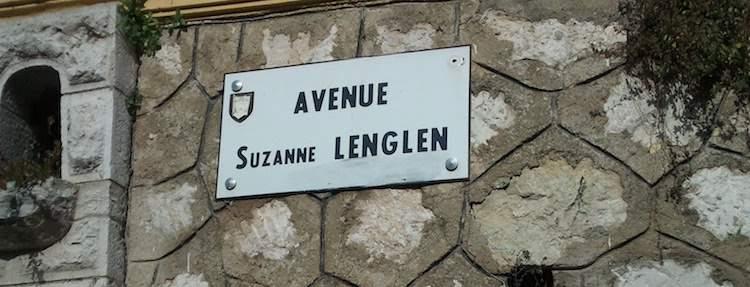 Avenue Suzanne Lenglen sign in Nice
