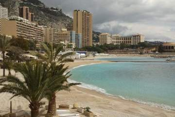 Larvotto Beach in Monaco by helicopter