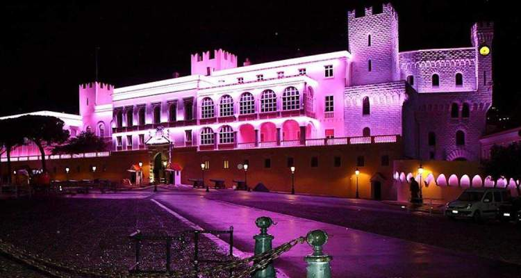Palais Princier in Monaco to turn pink this October