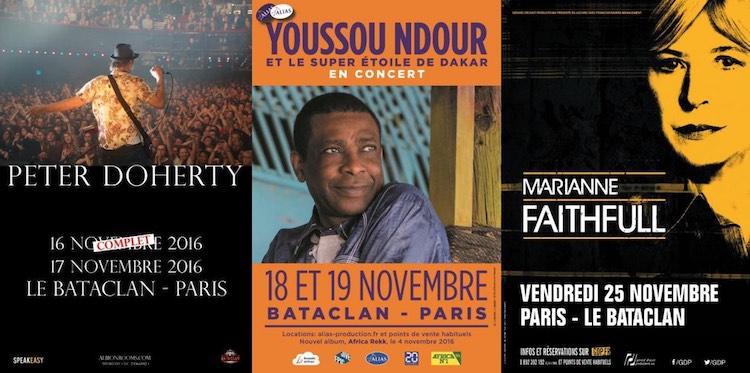 Upcoming gigs at Le Bataclan in Paris