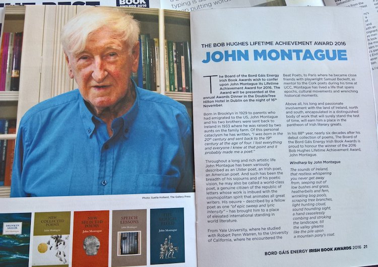 John Montague Irish Books Awards 2016