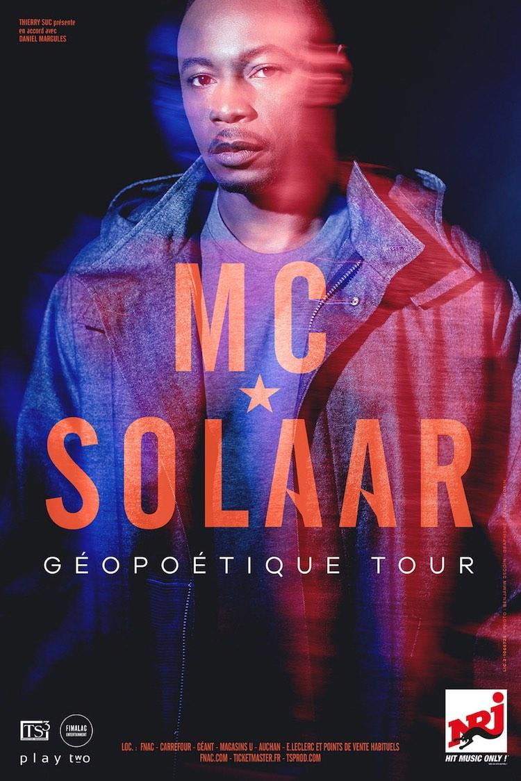 MC Solaar Géopoétique tour poster courtesy TS Prod