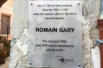 Romain Gary sign Roquebrune Cap Martin