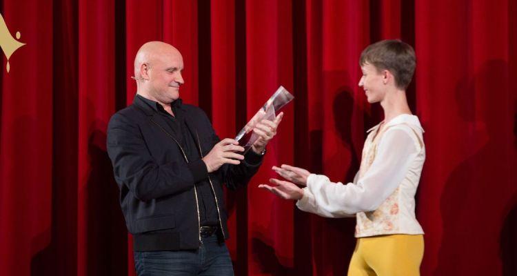 J-Ch. Maillot receives Prix de Lausanne award -- photo by Gregory Batardon
