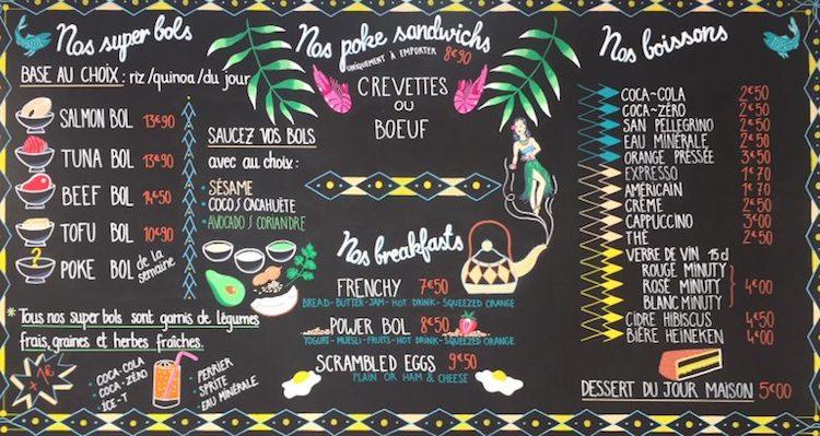 Super Bol Nice menu