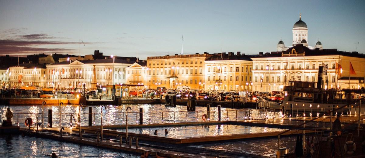 Night swimming Helsinki by Julia Kivelä