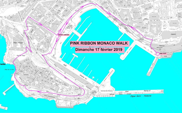 Pink Ribbon Monaco 2019 Walk Circuit