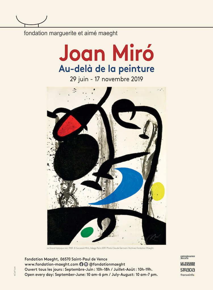 Fondation Maeght expo Míro 2019