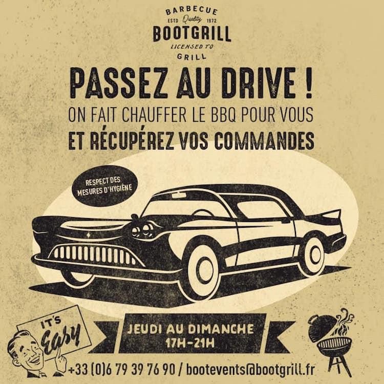 Bootgrill drivethru