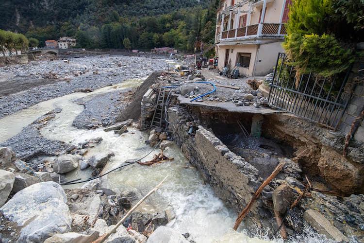 Flood damage Breil sur Roya