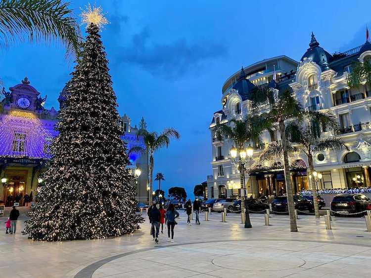 Monaco Christmas tree festival 2020