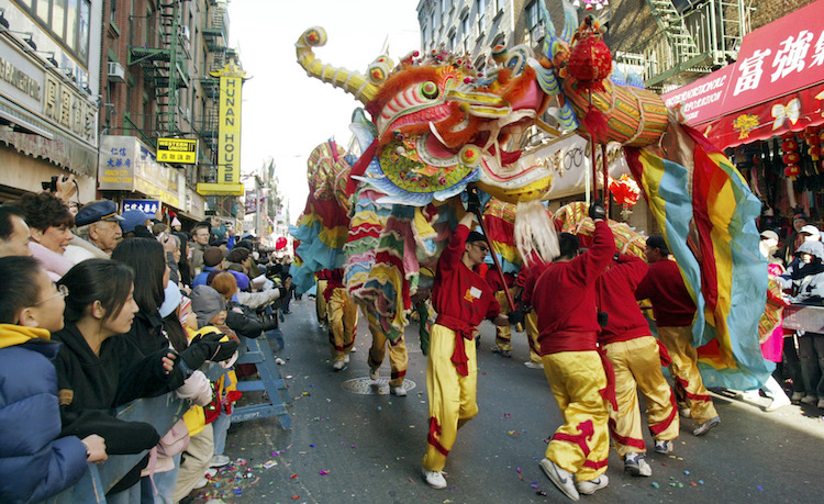 Photo by Patrick Kwan - Dragon in Chinatown NYC Lunar New Year