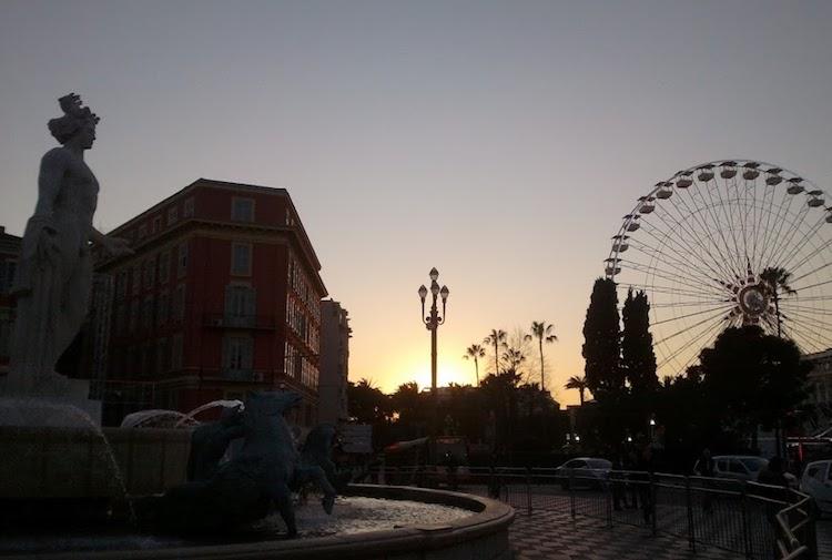 Place Masséna Nice by night