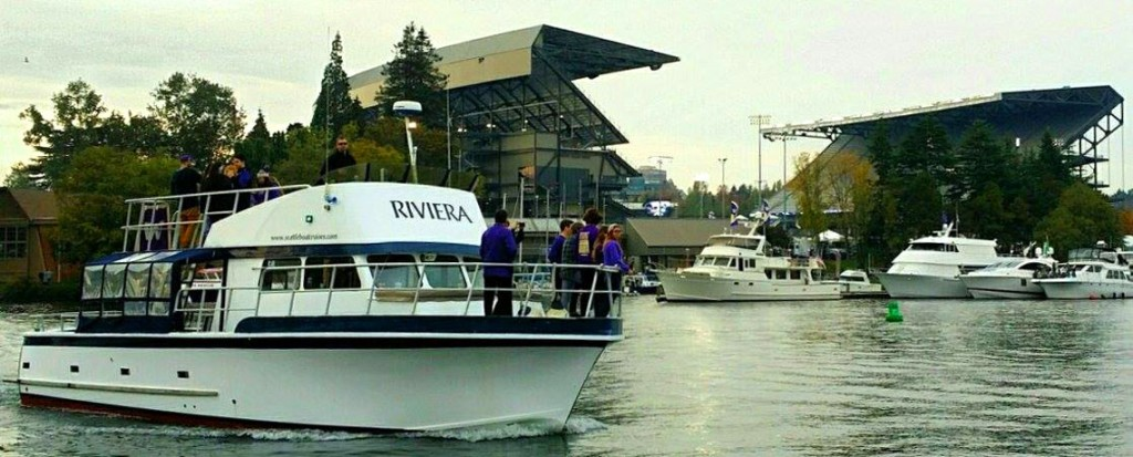 UW Husky Football, Party, Sailgating, Charter Boat from Seattle