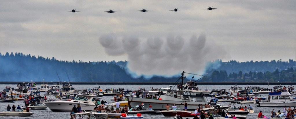 Watch the Blue Angels by boat
