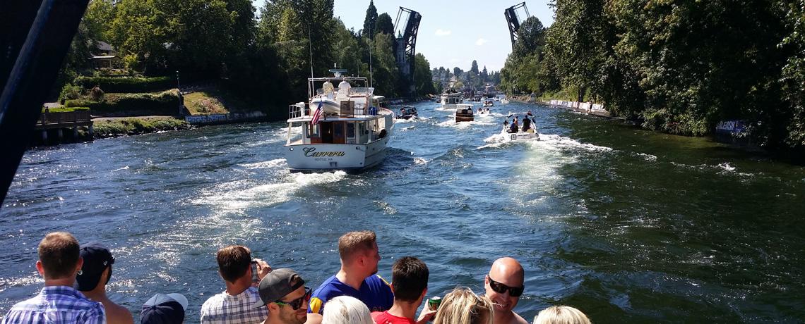 Seattle Riviera Boat Cruises 2 – Headed upriver