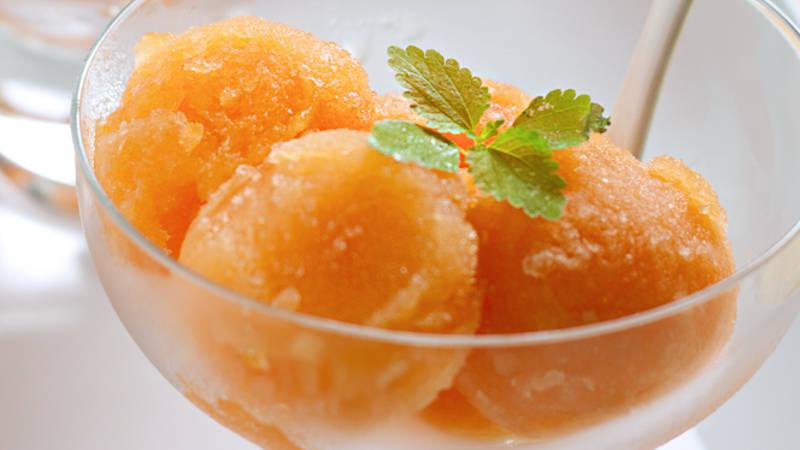 Gelato magico ricetta sorbetto al melone con il bimby