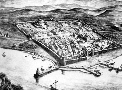 Luni museo archeologico antica rappresentazione della città