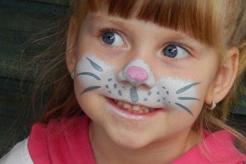 Trucco di carnevale per bambini gattino