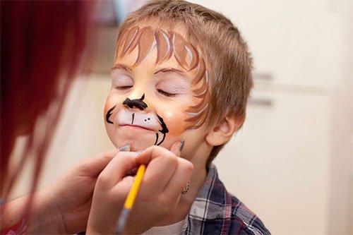 Trucco di carnevale per bambini leone