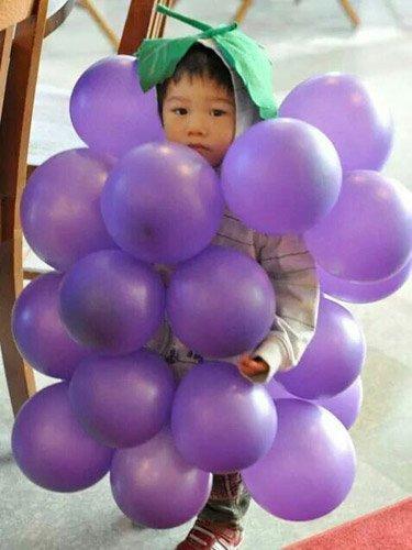 Costume di Carnevale per tutta la famiglia grappolo d'uva